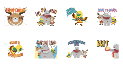 Asian Games: Official Music Stickers Line Sticker GIF & PNG Pack: Animated & Transparent No Background | WhatsApp Sticker