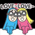 BG MEN: Love Is All Around Sticker for LINE & WhatsApp | ZIP: GIF & PNG