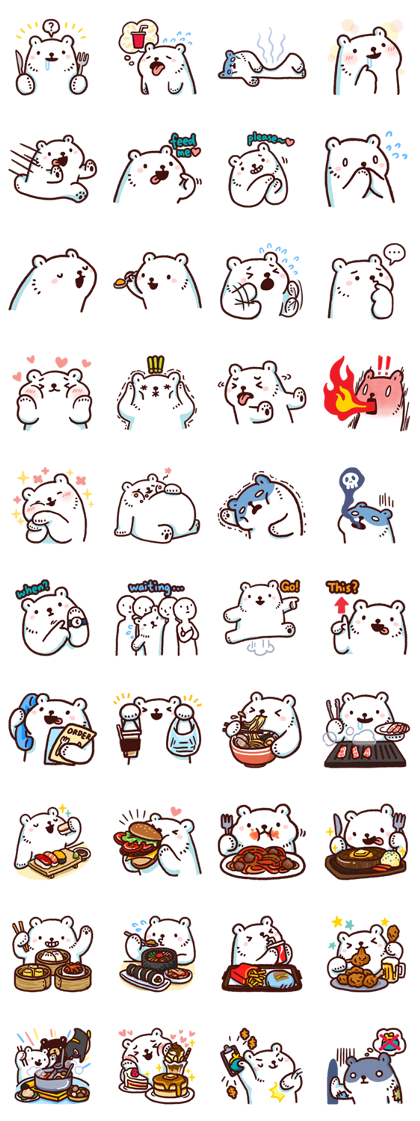 Bac Bac's Diary 5: What Do We Eat Today? Line Sticker GIF & PNG Pack: Animated & Transparent No Background | WhatsApp Sticker