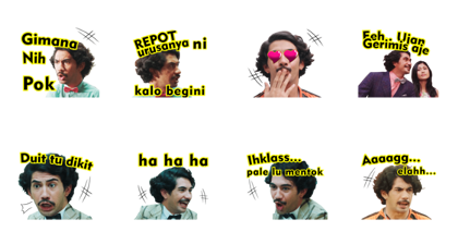 Benyamin: Biang Kerok Line Sticker GIF & PNG Pack: Animated & Transparent No Background | WhatsApp Sticker
