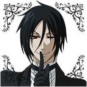 Black Butler Sticker for LINE & WhatsApp | ZIP: GIF & PNG