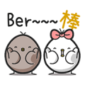 Black and White Chicken: Collapse Daily Sticker for LINE & WhatsApp | ZIP: GIF & PNG