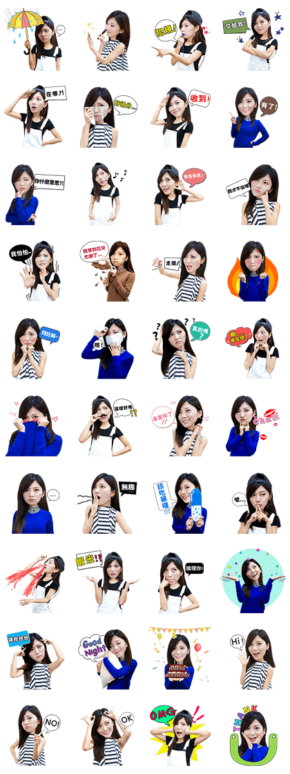 Boom Mini Line Sticker GIF & PNG Pack: Animated & Transparent No Background | WhatsApp Sticker