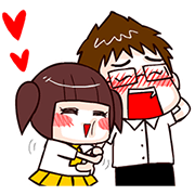 Boostwo Love!! Sticker for LINE & WhatsApp | ZIP: GIF & PNG