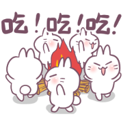 Bosstwo: Cute Rabbit Foodie Sticker for LINE & WhatsApp | ZIP: GIF & PNG