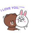 Brown & Cony Custom Stickers Sticker for LINE & WhatsApp | ZIP: GIF & PNG
