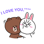Brown & Cony Custom Stickers Sticker for LINE & WhatsApp   ZIP: GIF & PNG