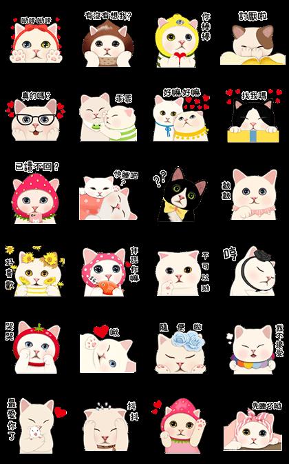 CHOO CHOO CAT'S LOVE TALK Line Sticker GIF & PNG Pack: Animated & Transparent No Background | WhatsApp Sticker