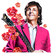 Chat with Paul McCartney Sticker for LINE & WhatsApp | ZIP: GIF & PNG