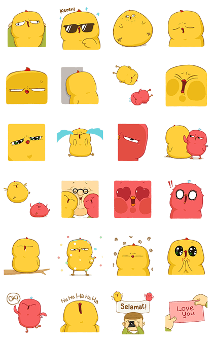 Cheez...z: Warbie & Yama Pop-Up! Line Sticker GIF & PNG Pack: Animated & Transparent No Background | WhatsApp Sticker