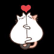 Coko's MixFlavor! Flighty Cat! Sticker for LINE & WhatsApp   ZIP: GIF & PNG