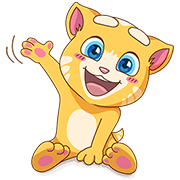 Cute Ginger Sticker for LINE & WhatsApp | ZIP: GIF & PNG