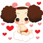 Ddung, Queen of Charm Sticker for LINE & WhatsApp | ZIP: GIF & PNG