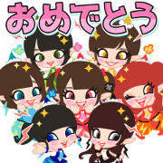 Dempa Akubigumi Sound Stickers Sticker for LINE & WhatsApp | ZIP: GIF & PNG