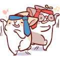 Fattubo New Life Stickers - Overworked 2 Sticker for LINE & WhatsApp | ZIP: GIF & PNG