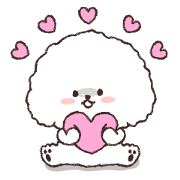 Fluffy Sechon Sticker for LINE & WhatsApp | ZIP: GIF & PNG