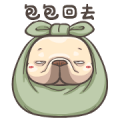 French Bulldog-PIGU XI Animated Stickers Sticker for LINE & WhatsApp | ZIP: GIF & PNG