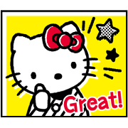 Hello Kitty 80's Sticker for LINE & WhatsApp | ZIP: GIF & PNG