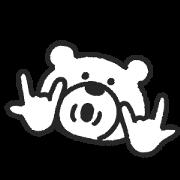 KETAKUMA Big Face Sticker for LINE & WhatsApp | ZIP: GIF & PNG