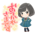 Keyakizaka46 Cartoon Style Stickers Sticker for LINE & WhatsApp | ZIP: GIF & PNG