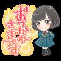 Keyakizaka46 Cartoon Style Stickers Sticker for LINE & WhatsApp | ZIP: GIF & PNG