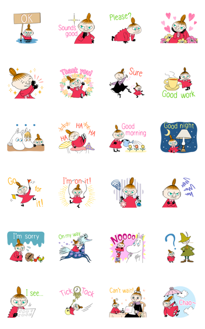 Little My: Everyday Polite Stickers Line Sticker GIF & PNG Pack: Animated & Transparent No Background | WhatsApp Sticker