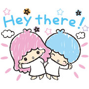 Little Twin Stars: Hand-Drawn Stickers Sticker for LINE & WhatsApp | ZIP: GIF & PNG