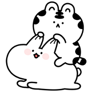 Mini Wanga & Huhu Sticker for LINE & WhatsApp | ZIP: GIF & PNG