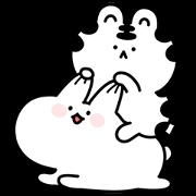 Mini Wanga & Huhu Sticker for LINE & WhatsApp | ZIP: GIF & PNG