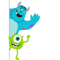 Monsters, Inc. (Cute) Sticker for LINE & WhatsApp | ZIP: GIF & PNG