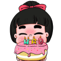 Nong Kawhom 2019 Sticker for LINE & WhatsApp | ZIP: GIF & PNG