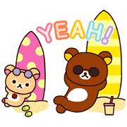 Rilakkuma: Enjoy Summer Sticker for LINE & WhatsApp | ZIP: GIF & PNG