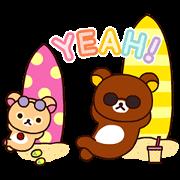 Rilakkuma: Enjoy Summer Sticker for LINE & WhatsApp | ZIP: GIF & PNG