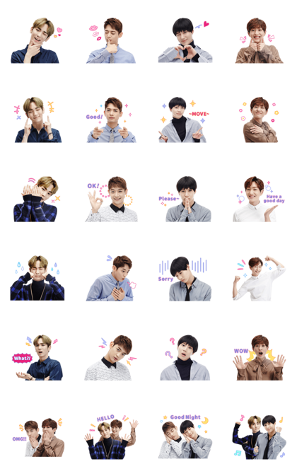SHINee Special 3 Line Sticker GIF & PNG Pack: Animated & Transparent No Background | WhatsApp Sticker