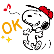 SNOOPY~PEANUTS SPORTS~ Sticker for LINE & WhatsApp | ZIP: GIF & PNG