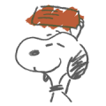 Snoopy Rough Sketches Sticker for LINE & WhatsApp | ZIP: GIF & PNG