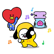 UNIVERSTAR BT21: Cosmic Chemistry Part 1 Sticker for LINE & WhatsApp | ZIP: GIF & PNG