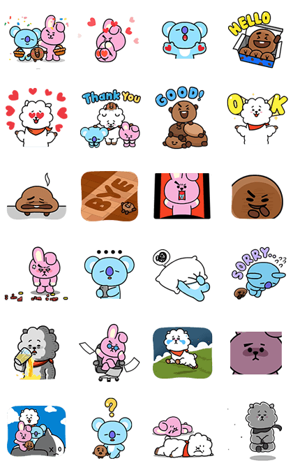 UNIVERSTAR BT21: Cosmic Chemistry Part 2 Line Sticker GIF & PNG Pack: Animated & Transparent No Background | WhatsApp Sticker