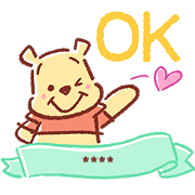 Winnie the Pooh Custom Stickers Sticker for LINE & WhatsApp | ZIP: GIF & PNG