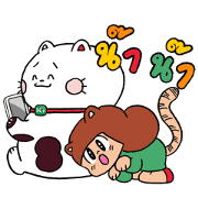 A Happy Moment: Peep-Chan × Mamuang Sticker for LINE & WhatsApp | ZIP: GIF & PNG