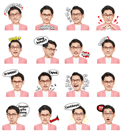Afgan, the Romantic Boyfriend Line Sticker GIF & PNG Pack: Animated & Transparent No Background | WhatsApp Sticker