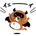 Akuma de Tanuki-Kun Sticker for LINE & WhatsApp | ZIP: GIF & PNG
