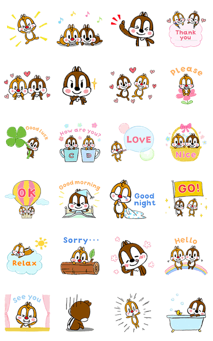 Animated Chip 'n' Dale: Polite Lovin' Line Sticker GIF & PNG Pack: Animated & Transparent No Background | WhatsApp Sticker