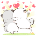 [BIG] Simao and Bamao Couple Stickers Sticker for LINE & WhatsApp | ZIP: GIF & PNG