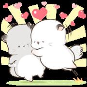 [BIG] Simao and Bamao Couple Stickers Sticker for LINE & WhatsApp | ZIP: GIF & PNG