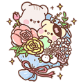 [BIG] Sunglin & Chini Couple Stickers Sticker for LINE & WhatsApp | ZIP: GIF & PNG