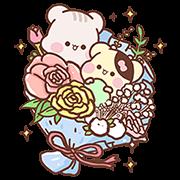 [BIG] Sunglin & Chini Couple Stickers Sticker for LINE & WhatsApp | ZIP: GIF & PNG