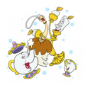 Beauty and the Beast Sticker for LINE & WhatsApp | ZIP: GIF & PNG