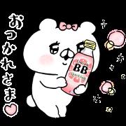 ChocolaBB × Bear Companion Sticker for LINE & WhatsApp | ZIP: GIF & PNG