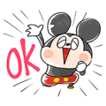 Easygoing Mickey and Friends Sticker for LINE & WhatsApp | ZIP: GIF & PNG